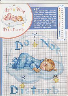 Copertina schema bambino che dorme sulla nuvola schema punto croce - magiedifilo.it punto croce uncinetto schemi gratis hobby creativi