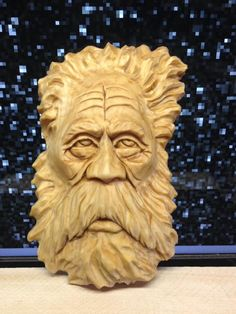 Best carving spirit faces images in tree sculpture