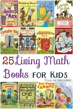 Math is one unexpected place we can bring books into the study to make the concepts more concrete. Kids can see the reasons for learning their math facts. They can see how certain math concepts can be used in the real world. These living math books are th Math For Kids, Fun Math, Math Activities, Math Resources, Elementary Math, Kindergarten Math, Teaching Math, Teaching Fractions, Math Fractions