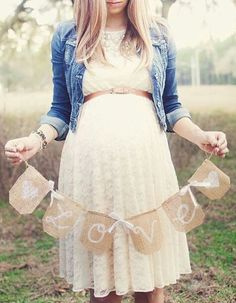 Stunning Outfit Ideas For Your Baby Shower! - FunctionMania Blog -   You can glam up a simple maternity dress by adding a denim jacket or a stole to give it that refined look!
