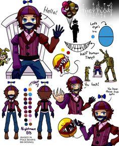 Design Sheet (c) Wolf con F Character Design (c) Pole-Bear Fnaf (c) Scott . Freddy S, Pole Bear Fnaf, Five Nights At Freddy's, Ballon Boy, Animatronic Fnaf, Fnaf Sister Location, Fnaf Characters, Fnaf Drawings, Anime Fnaf