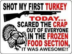 Shot my first turkey today...