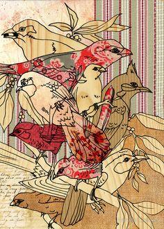 vintage finch by Narelle Craven Bird Art, Framed Prints, Canvas Prints, Collage Art, Madness, Bird Artwork