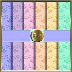 COMMERCIAL USE OK 6 Printable Digital Embossed Pastel by DigiPic1