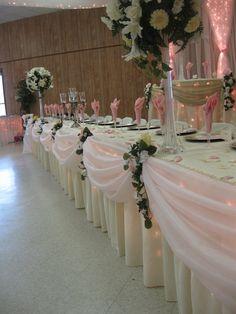 Bridal party table decor.
