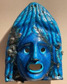 """Decimus Claudius - Rome SPQR on Instagram: """"A Roman faience theatrical mask, dated to the 2nd century AD, and is said to be from Arsinoe, Egypt which was the capital of the Fayum…"""" Ancient Beauty, Rome, Egypt, Carnival, Painting, Fictional Characters, Instagram, Art, Art Background"""