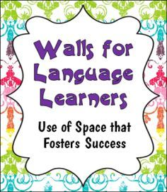 Walls for Language Learners: Use of Space that Fosters Success - Excellent photos with examples of effective use of wall space in a dual language classroom Dual Language Classroom, Bilingual Classroom, Bilingual Education, Bilingual Kindergarten, Multicultural Classroom, Education Logo, English Language Learners, French Language, Spanish Dual Language