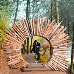 From Recommend palace to long weekend Loc : Goa Pinus Kota Batu Fantasy Landscape, Landscape Design, Garden Art, Garden Design, Jungle House, Cafe Concept, Roof Design, Island Resort, Walking In Nature