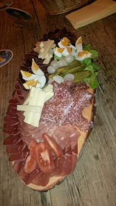Cold cuts and cheese plate @ Restaurant Sonnenhalde