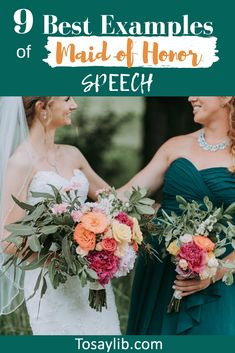 Maid of honor speech ideas : The content of maid of honor speeches is largely related to the personality of the bride and her relationship with her maid of honor, as well as the setting of the wedding (formal or informal). Matron Of Honor Speech, Maid Of Honour Dresses, Matron Of Honour, Maid Of Honor Dress Different, Bridesmaid Speeches, Wedding Bridesmaids, Wedding Speeches, Wedding Advice, Wedding Planning Tips
