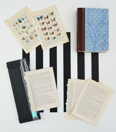 how to make DIY vintage book page art