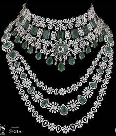 Diamond Necklace Set, Emerald Necklace, Emerald Jewelry, Diamond Jewellery, Stone Necklace, Jewelry Design Earrings, Jewelry Necklaces, Jewelry Illustration, Color Stone