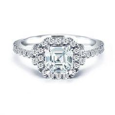 Royal Asscher of America diamond engagement ring