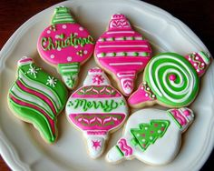 Preppy Christmas Cookies #lillyholiday