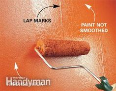 3 ways to avoid lap marks  Roll lightly without pressing  Ridges of paint left by the edge of the roller, or lap marks, are a common problem. And if left to dry, they can be difficult to get rid of without heavy sanding or patching. Here are three ways to avoid the problem:  Don't submerge the roller in the paint to load it. Paint can seep inside the roller cover and leak out while you're rolling. Try to dip only the nap. Then spin it against a screen and dip again until it's loaded with …