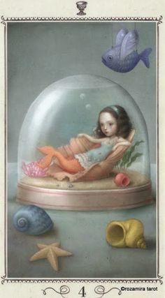 Four of Cups - Nicoletta Ceccoli Tarot by Nicoletta Ceccoli
