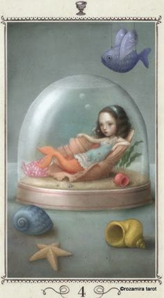 Four of Cups - Nicoletta Ceccoli Tarot by Nicoletta Ceccoli