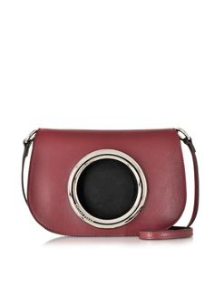 Emilio Pucci Wine Red Leather Crossbody Bag