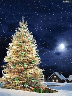 Christmas Tree gif motion click