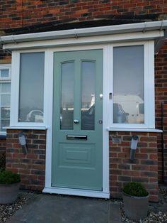 Chartwell green, modern composite door fitted in borehamwood #composite #door #frontdoor