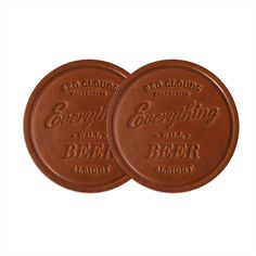 Leather coaster Set. Everything will beer alright. Drink in style with this set of 4 coasters. Leather coaster