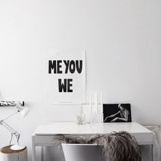 Me You We Love the poster fromMiniwilla Photoby Curated by   via styleandcreate.com
