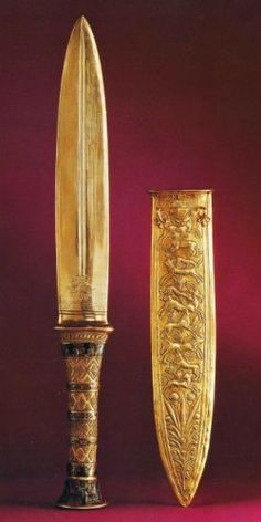 Gold dagger, from the tomb of King Tutankhamun