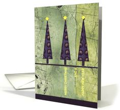 Merry Christmas for Employee, graphic Christmas tree card