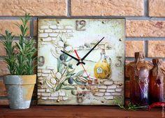 Купить Золото Тосканы - комбинированный, часы, часы для кухни, часы для дачи, часы настенные, италия