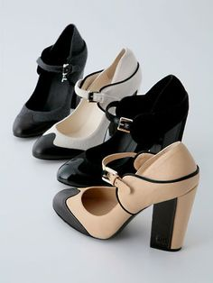 chanel shoes~~~~I probably would not kill myself in these heels.