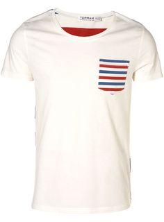 White Stripe Pocket T-Shirt