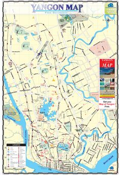Mingalardon township yangon city map scan maps yangon tourist map of yangon myanmar also known as rangoon shows pagodas and other points of interest publicscrutiny Image collections