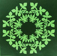 Lilikoi, Hawaiian Wall Quilt Pattern, prqc.com Hawaiian Quilt Patterns, Applique Quilt Patterns, Hawaiian Quilts, Quilting Projects, Art Projects, Hawaiian Gardens, Green Quilt, Small Quilts, Christmas Colors