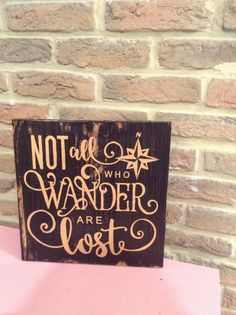 Not all who wander are lost - wooden sign by StoreOfHappiness on Etsy
