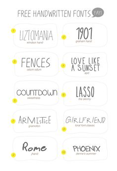 Free handwritten fonts, can't beat it  I like FENCES and ROME  H E L L O : 10 Free Handwritten Fonts