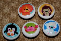 Ceramic Knobs made w FISHER PRICE Precious by 3ButtonsN2Bows, $11.00