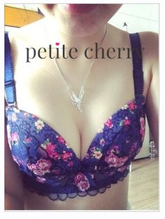 Cute floral lace push up bustier bra from Petite Cherry. SHOP >> http://www.petitecherry.com/search?q=sakura #lingerie #cute #bra #panty