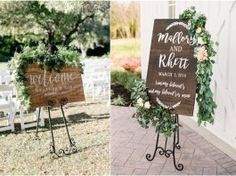 20 Greenry Rustic Wooden Welcome Wedding Signs