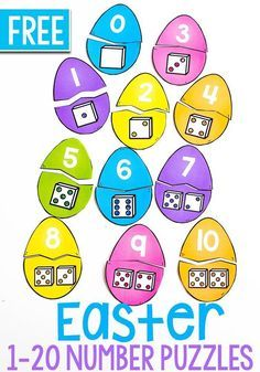 This is a fun Easter Egg Puzzle For Number Sense for preschoolers or kindergarteners. Use these pieces on their own or add to a sensory bin for tons of fun. Try this Easter printable today! Kindergarten Math Games, Preschool Math, Number Sense Kindergarten, Number Sense Activities, Spring Activities, Preschool Activities, Maths Puzzles, Number Puzzles, Easter Puzzles