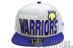 GOLDEN STATE WARRIORS Big Bold 2 Grey Royal New Era Cap