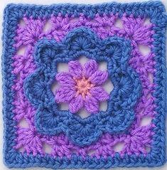 Transcendent Crochet a Solid Granny Square Ideas. Inconceivable Crochet a Solid Granny Square Ideas. Crochet Motifs, Crochet Blocks, Granny Square Crochet Pattern, Crochet Flower Patterns, Crochet Squares, Crochet Flowers, Crochet Stitches, Knitting Patterns, Granny Squares