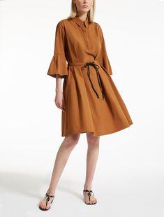 Max Mara TIRO cuir de vache: Robe en popeline de coton.