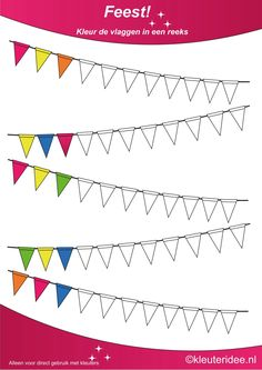 free printable: color it; then recreate in real flags to decorate room I Love School, Pre School, Math Patterns, Shape Books, Pre Writing, Math For Kids, Kids Education, Preschool Activities, Elementary Schools