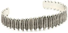House of Harlow 1960 Silver-Plated Small Feather Row Cuff Bracelet House of Harlow 1960. $63.00. Textured feather Made in USA. Silver plated. Made in USA. Textured feather. Keep Away From Moisture