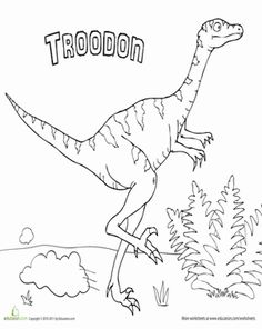 Dinosaur fact cards places search and facts for Troodon coloring page