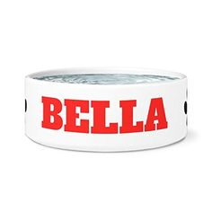 LynchHorizon Pets - Bella Dog Bowl 7.5' x 3.5' Ceramic white bowl * See this great product. (This is an affiliate link and I receive a commission for the sales)