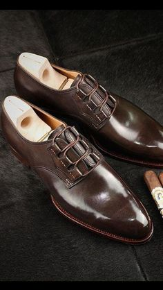 Handmade Men Brown Oxford formal shoes, Men brown dress shoes, Mens shoes - Dress/Formal