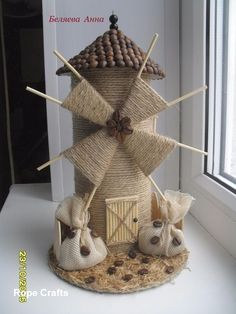 22 Awesome Ideas- How to make your own Fairy Garden Art N Craft, Craft Stick Crafts, Diy And Crafts, Crafts For Kids, Arts And Crafts, Diy Art, Jute Crafts, Paper Crafts, Windmill Diy