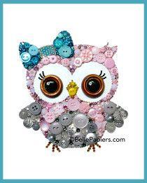 Personalized Owl Not Personalized Nursery Button Art Nursery Owl