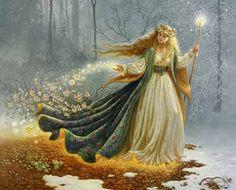 Freyja, Valhalla - La Mythologie Nordique Plus Celtic Goddess, Celtic Mythology, Brighid Goddess, Goddess Art, Goddess Pagan, Goddess Warrior, Mother Goddess, Beltane, Pagan Festivals